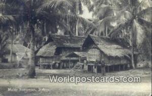Malaysia, Malaya  Malay Kampong Real Photo