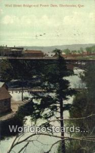Sherbrooke, Quebec Canada, du Canada Wolf Street Bridge, Power Dam  Wolf Stre...