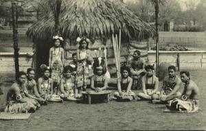 samoa, Native People preparing the National Drink Kava (1910s) Marquardt