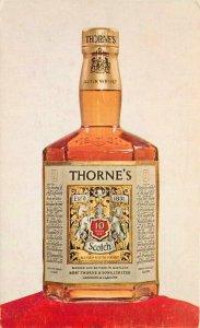 Advertising Scotch Whiskey Intierior 1950s Postcard 7793