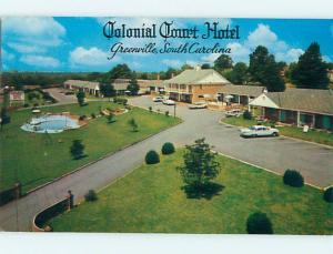1950's COLONIAL COURT HOTEL Greenville South Carolina SC Q6182