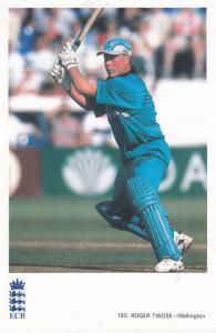Roger Twose Wellington New Zealand International Cricketer Cricket Postcard