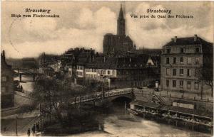CPA Strassburg Vue prise du Quai des Pécheurs (428664)
