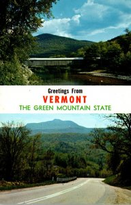 Vermont Greetings From The Green Mountain State