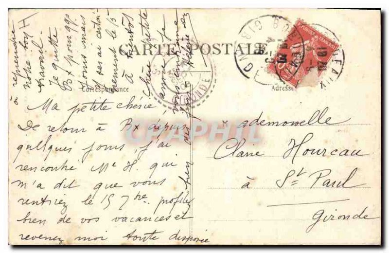 Postcard Old XIX Paris Buttes Chaumont Small Waterfall