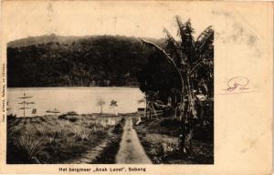 INDONESIA PC DUTCH INDIES - Het bergmeer Anak Laoet Sabang SUMATRA (a1633)