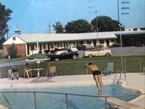 Lord Salisbury Motel Vtg Cars Poolside Scene Salisbury,MD Vtg 1950's Postcard