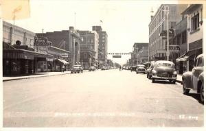Billings Montana Broadway Real Photo Antique Postcard J66769