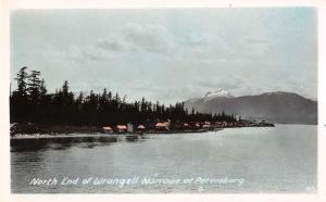 Petersburg Alaska Wrangell Narrows Tinted Real Photo Antique Postcards K39106