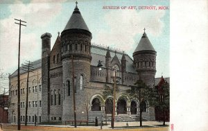 Museum of Art, Detroit, Michigan, Early Postcard, Undivided Back, Unused