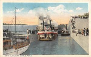 Warrior River Alabama Lock 17 Boats In Canal Vintage Postcard JE229796
