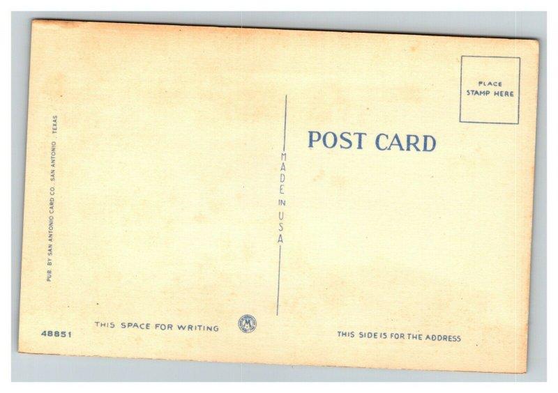 Vintage 1930's Linen Postcard Houston Street Majestic Theatre San Antonio TX