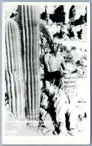 APACHE INDIAN TRAIL OF ARIZONA ANTIQUE REAL PHOTO POSTCARD RPPC