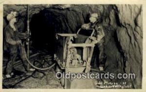 Gold Mining, Grass Valley Calif. USA Real Photo Postcard Postcards  Gold Mini...