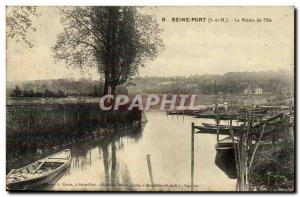 Seine Port Old Postcard The tip of the & # 39ile
