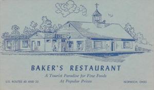 Ohio Norwich Baker's Restaurant