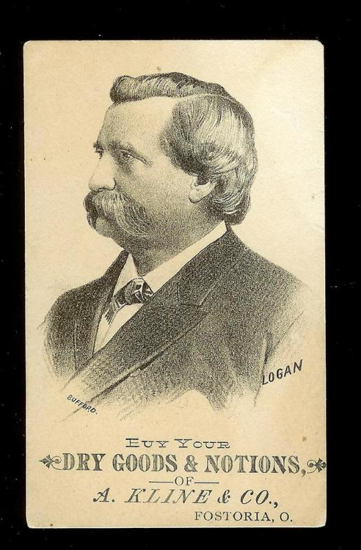 VICTORIAN TRADE CARD Kline's Dry Goods & Notions
