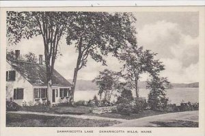 Maine Damariscotta Mills Damariscotta Lake Albertype