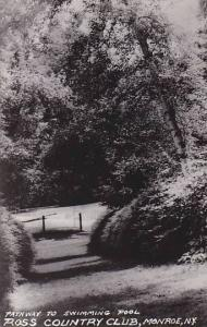 RP, Pathway to Swimming Pool, Ross Country Club, Monroe, New York, 30-40s