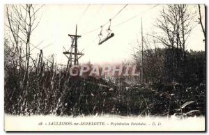 Old Postcard Saulxures on Moselotte forestry exploitation