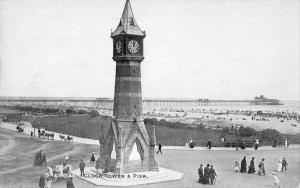 BR99793 skegness clock tower and pier  uk