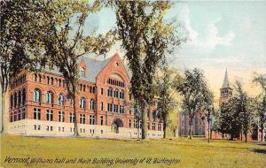 19567 VT Burlington, University of Vermont, Main Building, Williams Hall