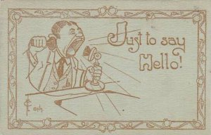 Fred Cavally Comic Verse Series Just to say Hello 1913