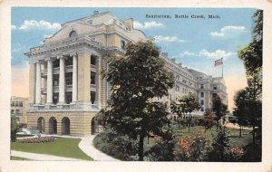 Hospitals Post Card Sanitarium Battle Creek, Michigan, USA Postcard Unused
