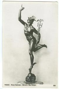 Firenze, Museo Nazionale, Mercurio, Gian Bologna, unused real photo Postcard
