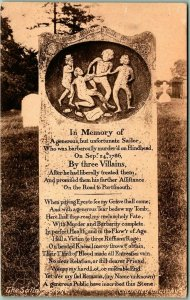 Thursley, England Postcard The Sailor's Stone Gravestone Cemetery 1910s Unused