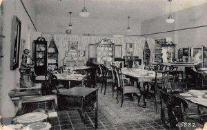 Sarasota Florida Waffle Shop Antiques Interior Vintage Postcard AA31397