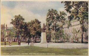 United Kingdom, London, Grosvenor Square and the Roosevelt Memorial, Postcard