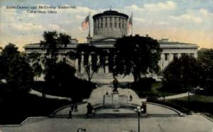 State Capitol and McKinley Memorial Columbus OH 1914