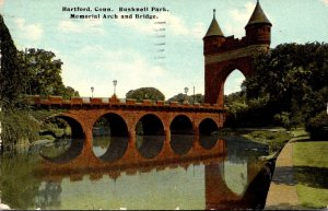 Connecticut Hartford Bushnell Park Memorial Arch and Bridge 1911
