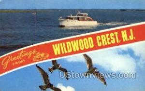 Greetings From Wildwood Crest NJ 1965 missing stamp