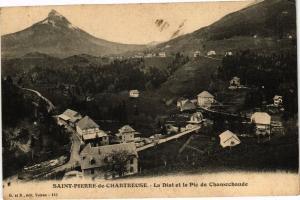 CPA  Saint-Pierre de Chartreuse - La Diat et le Pic de Chamechaude  (241659)