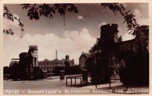 Norman~University of Oklahoma: Soonerland Campus Entrance~1947 Real Photo~RPPC