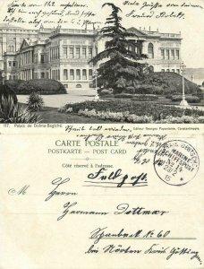 turkey, CONSTANTINOPLE, Palais de Dolma-Bagtché 1915 Postcard, Navy Mail MSP 14