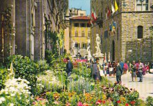 Italy Firenze Piazza della Signoria Festa dei fiori