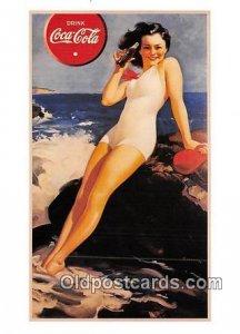 Poster by Haddon Sundblom Produced year 1990 Coca Cola Unused