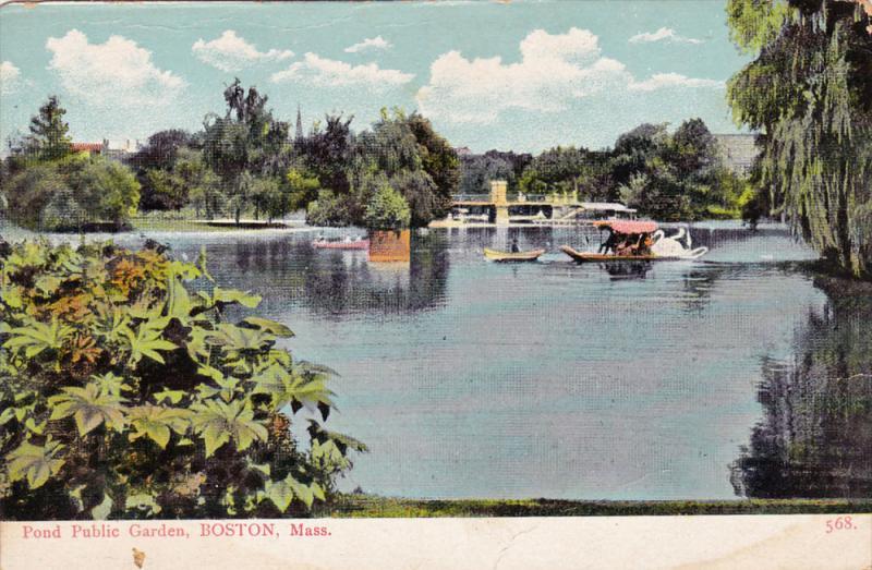 Pond Public Garden, BOSTON, Massachusetts, 1900-1910s