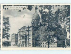 1940's STATE CAPITOL BUILDING Lansing Michigan MI G2605