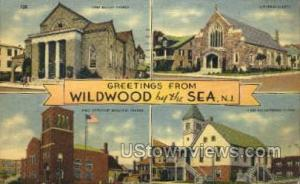 Greetings From Wildwood-by-the Sea NJ 1945