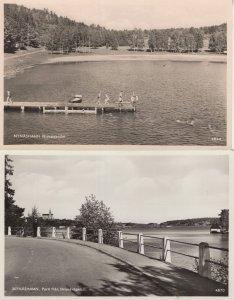 Nynashamn Sweden 2x Real Photo Old Postcard s
