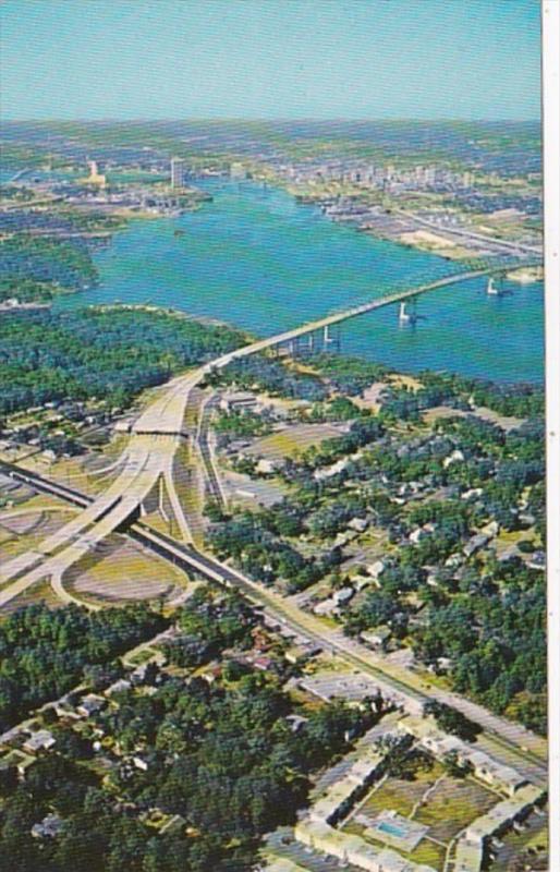 Florida Jacksonville Aerial Isaiah D Hart Memorial Bridge Atlantic Boulevard ...