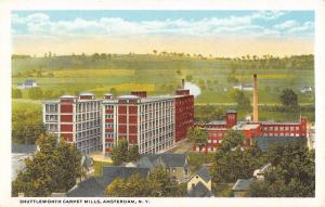 Amsterdam New York Shuttleworth Carpet Mills Antique Postcard K82388