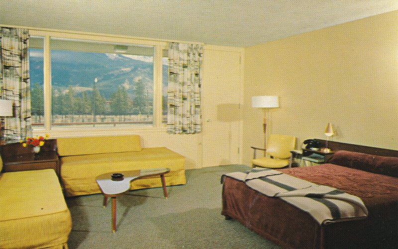 JASPER NATIONAL PARK, Alberta, 1940-60s; Room at The Andrew Motor Lodge