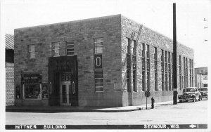 Automobiles Hittner Building Seymour Wisconsin 1930s RPPC Photo Postcard 7811
