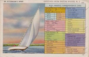 An Afternoon's Sport Greetings From Breton Woods New Jersey 1945