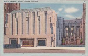 Illinois Chicago W G N Studios Tribune Square